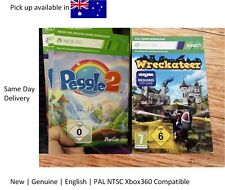 Xbox 360 game : Kinect Wreckateer Full Game Download Card with Peggle2 !