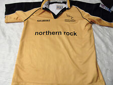 MATCH WORN NEWCASTLE FALCONS RUGBY UNION SHIRT/JERSEY/MAILLOT-SUPERB!! *LOOK*