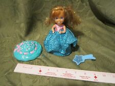 Vintage 1990 Tonka Cupcake Doll Dess up Blue hat comb sparkle dessert toy fun