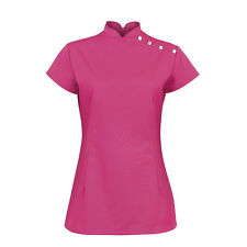 ALEXANDRA BEAUTY TUNIC, STAND COLLAR/BUTTONS, IDEAL FOR SALON, SPA, HAIRDRESSERS