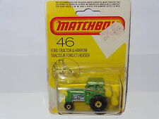 Matchbox Ford Tractor And Harrow - 46 Sellado Blister
