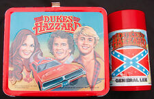 VINTAGE DUKES OF HAZZARD LUNCHBOX & THERMOS (1980) TV SHOW - C-8 NICE!