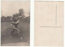 Junger Ringer ,Kraftsport,sporty male Bodybuilder in touch RPPC c.1915 Gay Int