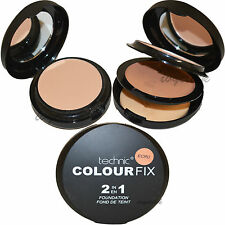 Technic colore Fix 2 in 1 ECRU PRESSATO POLVERE E Crema Fondotinta Makeup Offerta