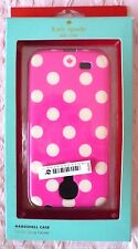 KATE SPADE For SAMSUNG GALAXY(£35RRP)White Polka Dots / Pink Hardshell Case-BNWT