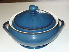 Denby England BOSTON 2 Qt Round Covered Casserole Serving Bowl