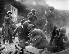 WWII B&W Photo US Mortar Team Normandy D-Day  WW2 /1057