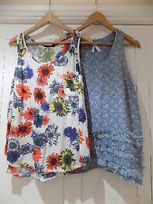 Next / George women's set of 2 pretty loose fit floral top size 12