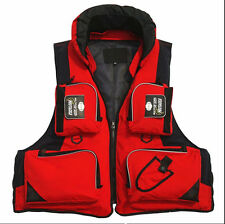 Stock Red Adult Foam Buoyancy Aid Kayak Sailing Fishing Life Jacket Vest Size L