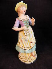 Vintage Porcelain Lady Figurine French Maid corseted women statue NICE
