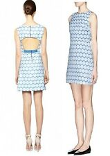 NWT Alice + Olivia Tamara Dot Print A-Line Dress Blue Size 4 SOLD OUT Online!