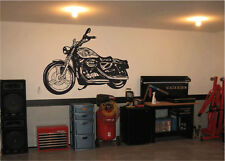 Black Motorcycle Sticker Decal for Mechanic Shop Garage Decor