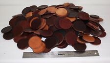 """5 Pounds 2 1/4"""" Die Cut Leather Rounds Scrap for Stacked Knife Handles & More"""