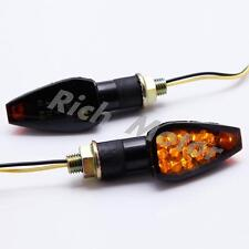 MOTORCYCLE MINI LED TURN SIGNALS INDICATORS BLINKER LIGHT AMBER SMOKE 12V DC