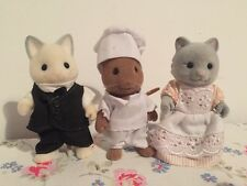 Sylvanian Families Grand/Regency Hotel Figure Bundle - Maid/Chef/Butler