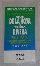 Oscar De La Hoya vs Wilfredo Rivera 1997 Official Credential Terry Norris Camp