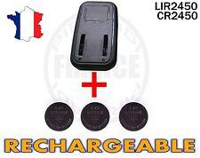 CHARGEUR + 3 PILES BOUTON CR2450 RECHARGEABLE 3.6V Lir2450 BATTERIE ACCU ACCUS