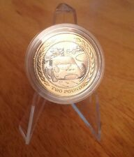 isle of man 1998 vintage car rally £2 two pound coin good cond in capsule rare