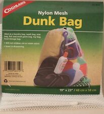 DUNK BAG-NYLON MESH-LAUNDRY-WASH-TOTE-FISH-GAME-TOYS-FOOD 19 X 23 DRAWSTRING