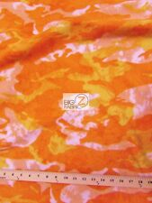 "CAMO PRINT POLAR FLEECE FABRIC - Orange - 60"" WIDTH SOLD BY THE YARD 215"
