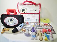 Doctor's Bag Soft Stuffed Cloth Instruments Play Set Kit Toys Game Schulman 2005