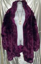 ROAMANS PURPLE FAUX FUR 4X 34/36 NWOT ITS GORGEOUS & SUPER SOFT!PLUS SIZE WOMENS