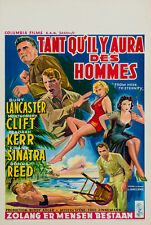 OriginalFrom Here to Eternity Film/Movie Poster, Belgian 1953