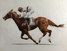 The Gallop J. Coates Original Oil Painting Art 10 X 8 Inches