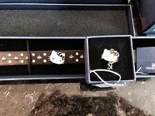 New SWAROVSKI crystal signed Hello Kitty Rocker bracelet Ring Set 1145284 114527
