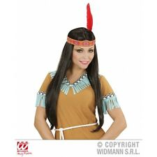 Indian Woman Wig with Headband for Native American Wild West Cowboys Fancy Dress