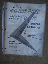 1956 Johnson Outboard 7 1/2 HP AD ADL 10 10M Origl Parts Catalog MORE IN STORE L