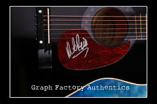 **GFA Working for the Weekend *MIKE RENO* Signed Acoustic Guitar PROOF COA**