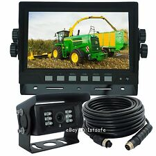 "7"" DIGITAL REAR VIEW BACKUP REVERSE CAMERA SYSTEM FOR SKID STEERS AGRICULTURE"