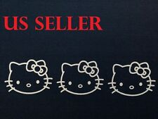 Set Of 3 Hello Kitty Car Sticker / Window / Wall / / LapTop / iPad Sticker  #23