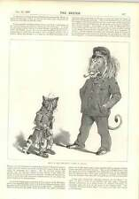 1896 Harry B Nielsen Captain Lion Tramp Cat Mrs Temple 1st Dorset Regiment
