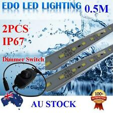 2X5630 12V LED STRIP LIGHT BARS CAMPING CARAVAN CAMPING BOAT TENT AWNING+SWITCH