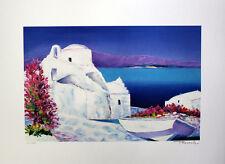 Serge Fenech  - Paisaje de Greci. Litografia sobre papel arches, firmada a mano