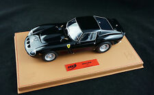 1/18 BBR FERRARI 250 GTO GLOSS BLACK BROWN DELUXE LEATHER BASE LIMITED LE 20 MR