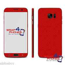 3D Textured Carbon Fibre Skin Sticker Cover Vinyl For All Samsung Galaxy Case
