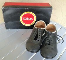 VINTAGE PAIR OF WILSON BASEBALL SHOES IN STORE DISPLAY BOX