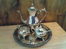 Beautiful Vintage Leonard Silverplate Coffee or Tea Set - 4 Piece Set