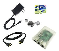 Basic Starter Kit Raspberry Pi 2 / Pi 3 B 8GB NOOBS Class 10 Micro SD Case etc