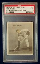 1933 ICE KINGS #22 ACE BAILEY Rookie World Wide Gum PSA Graded 5 EX English Only