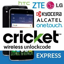 Factory Unlock Code Network PIN Kyocera Hydro View Cricket Wireless desbloqueado