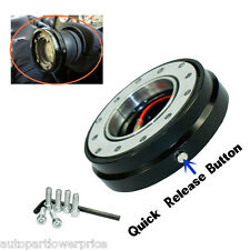 New Black Thin Racing Quick Release Adapter Steering Wheel Hub Snap Off Boss Kit