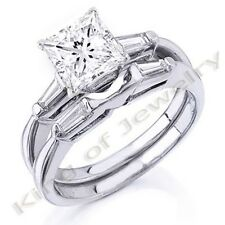 Gorgeous 1.52 Ct. Princess Cut Diamond Bridal Set