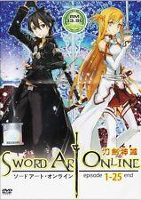 Sword Art Online DVD Complete ( Ep. 1-25 )End NTSC 0 Region Animation Box Set