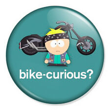 "Bike Curious 25mm 1"" Pin Badge Button South Park Butters Pop Art"