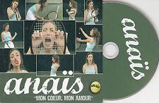 CD CARTONNE CARDSLEEVE 2T + CLIP ANAÏS MON CŒUR, MON AMOUR 2005
