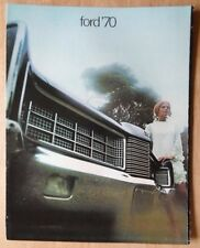 FORD orig 1970 USA Mkt sales brochure - LTD XL Galaxie 500 Custom & Custom 500